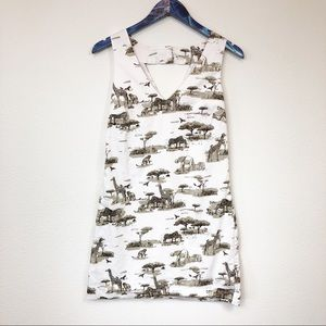 Banana Republic Safari V-Neck Mini Dress